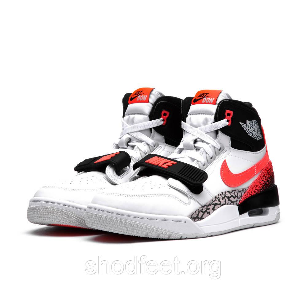Мужские кроссовки Air Jordan Legacy 312 WHITE/HOT LAVA-BLACK-ZEN GREY