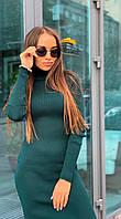 Платье-гольф р. 42-46 бутылочно-зеленый