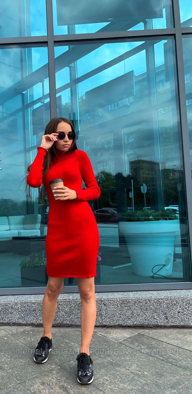 Платье-гольф р. 42-46 красный