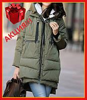 Женская зимняя куртка Теплая куртка на синтипоне, Зимний пуховик с капюшоном