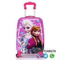 Детский чемодан Холодное сердце розовый , ручная кладь, 44/30/20 см, чемодан на подарок ребенку