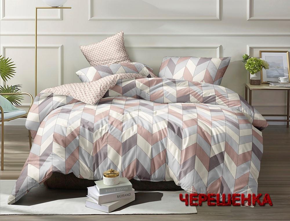 Семейный набор хлопкового постельного белья из Ранфорса №18681AB Черешенка™