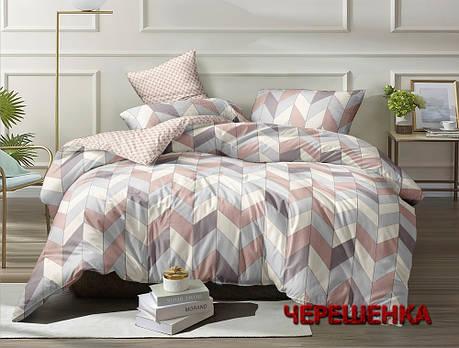 Семейный набор хлопкового постельного белья из Ранфорса №18681AB Черешенка™, фото 2