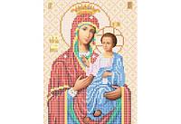 Атлас с нанесенным рисунком БОЖЬЯ МАТЕРЬ «Иверская»