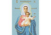 Атлас с нанесенным рисунком БОЖЬЯ МАТЕРЬ «Леушинская»