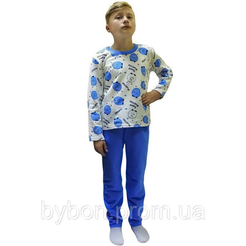 Пижама детская подростоквая футер рост 134-158