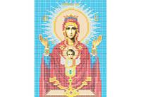 Атлас с нанесенным рисунком БОЖЬЯ МАТЕРЬ «Неупиваемая чаша»