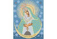 Атлас с нанесенным рисунком БОЖЬЯ МАТЕРЬ «Остробрамская»