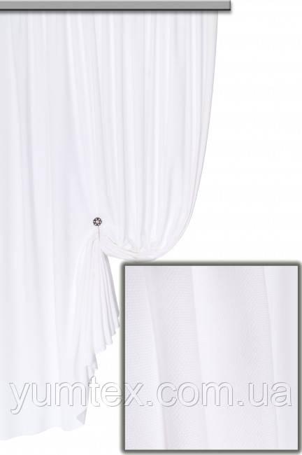 Ткань для штор портьер, римских штор покрывал плотный микровелюр или вельвет Пальмира цвет белый
