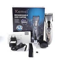 Аккумуляторная машинка для стрижки волос Kemei KM-605, фото 1