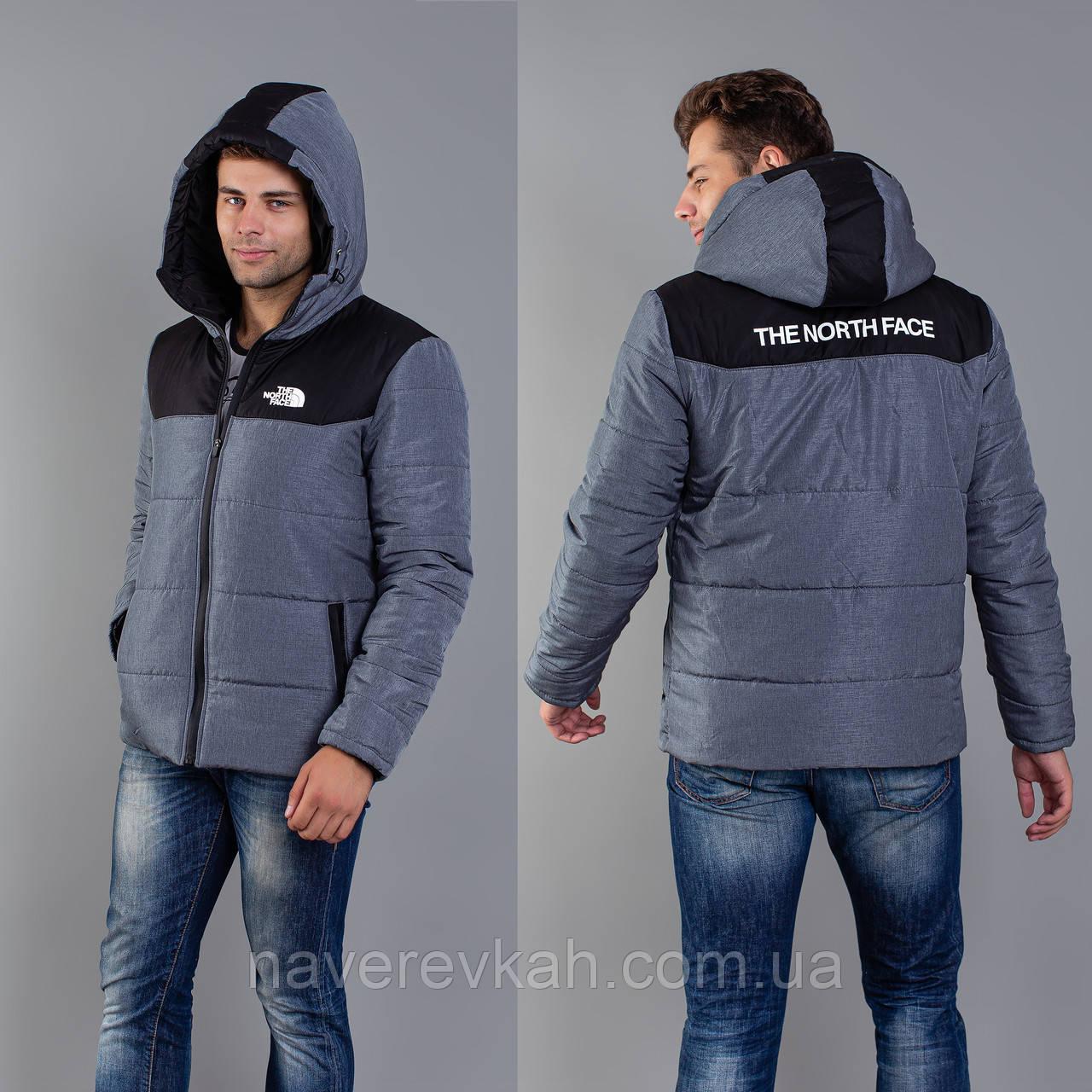 Мужская куртка джинс+ черный вставка 46 48 50 52