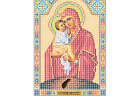 Атлас с нанесенным рисунком БОЖЬЯ МАТЕРЬ «Почаевская»