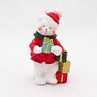Свечка Медведь с подарком, 5,2*5,3*9,3см (790708-2)