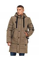 Мужская зимняя удлиненная куртка с декоративном клапаном на спине (3 цвета)