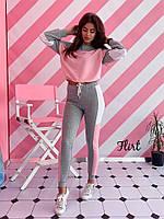 "Спортивный женский костюм ""Style"", серо-розовый, фото 1"