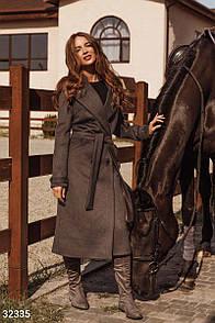 Изящное пальто серого цвета