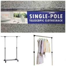Телескопическая стойка-вешалка для одежды и обуви - Single Pole Clothes Horse
