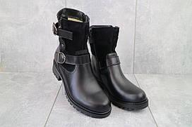 Жіночі черевики Sonata Loimo чорні (натуральна шкіра, зима) р. 36 38 39