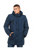 Мужская зимняя удлиненная куртка с накладным карманом на рукаве (3 цвета)