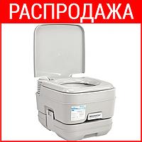 Биотуалет Кемпинг PortaFlush 10 л (туалет для дачи, кемпинга, ухода за больными и инвалидами). Хит продаж!