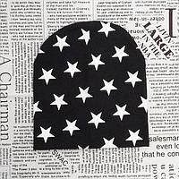 Трикотажная шапка со звездами
