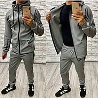 Мужской спортивный костюм меланж 46 48 50 52