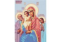 Атлас с нанесенным рисунком БОЖЬЯ МАТЕРЬ «Три радости»