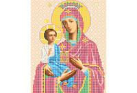 Атлас с нанесенным рисунком БОЖЬЯ МАТЕРЬ «Троеручица»