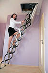 Чердачная лестница Oman FLEX TERMO METAL BOX 120x70, 120x60 мм, фото 2