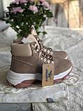Демисезонные кроссовки ботинки красивого цвета пудры, фото 3