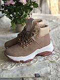 Демисезонные кроссовки ботинки красивого цвета пудры, фото 6