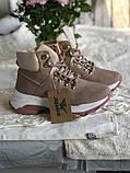 Демисезонные кроссовки ботинки красивого цвета пудры, фото 8