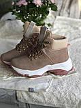 Демисезонные кроссовки ботинки красивого цвета пудры, фото 7