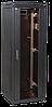 """ITK Шкаф сетевой 19"""" LINEA N, 18U, 600х600 мм, стеклянная передняя дверь, черный"""