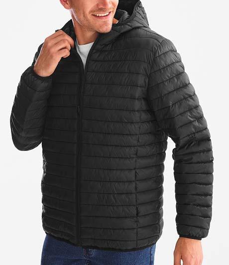 Осенняя черная мужская стеганная куртка воздуховик C&A оригинал