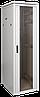 """ITK Шкаф сетевой 19"""" LINEA N, 24U, 600х600 мм, стеклянная передняя дверь, серый"""