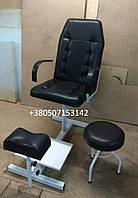 Кресло педикюрное, комплект, черный матовый