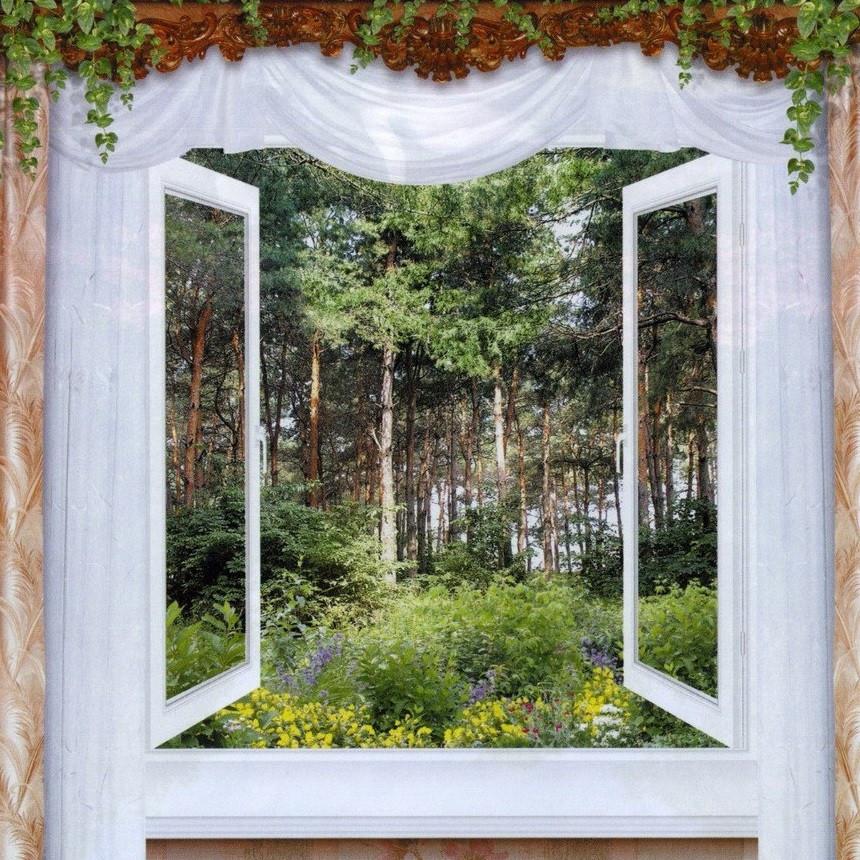 Фотообои,лес,  Утренняя свежесть, 12 листов, размер 194х201см