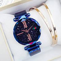 Женские наручные часы Starry Sky Watch на магнитной застежке blue