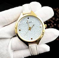 Женские наручные часы с тонким ремешком Meibo white