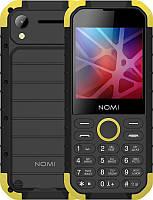 Мобильный телефон Nomi i285 X-Treme Dual Sim Black/Yellow, 2.8 (320х240) IPS / клавиатурный моноблок / MediaTek MT6261D / ОЗУ 32 МБ / 32 МБ встроенной