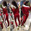 Двухцветный Спортивный костюм штаны брюки с лампасами + кофта Толстовка Реглан