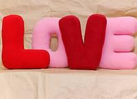 """Флисовые подушки """"Буква"""", подушка буква, любое слово. Дизайнерские подушки """"Любовь"""". Цена за 1 букву."""