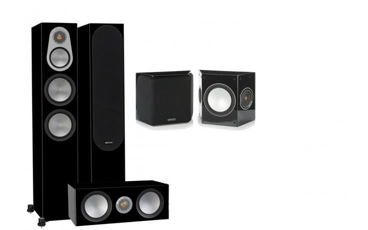 Комплект акустики Monitor Audio Silver Series 300 Black Gloss 5.0