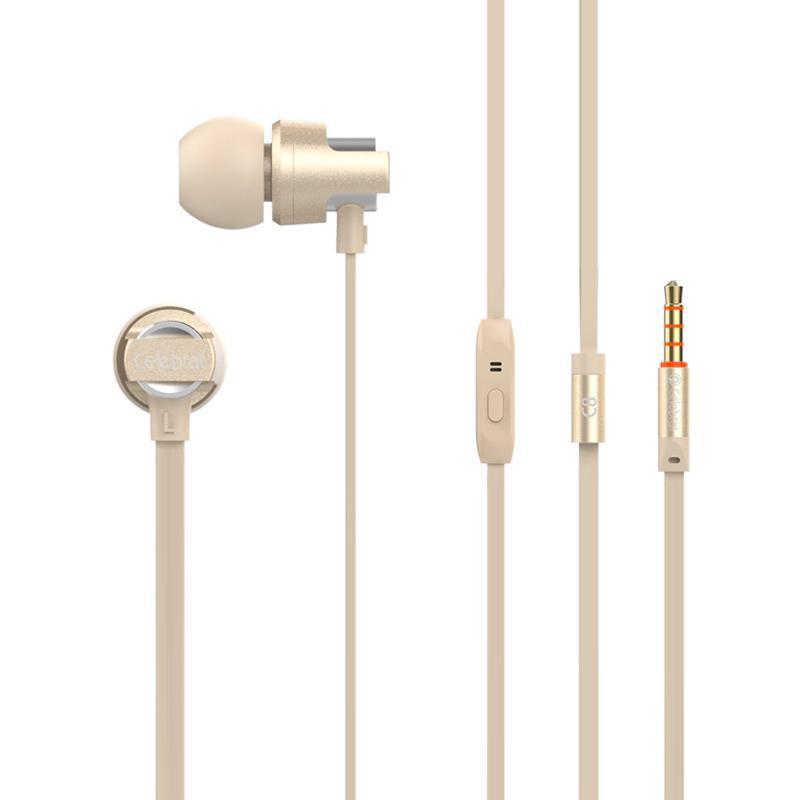 HF MP3 Celebrat C8 Gold + mic + button call answering