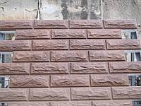 Фасадные термопанели «Кирпич колотый бежевый»