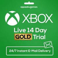 Підписка Xbox Live Gold Золотий Статус на 14 днів, (Всі Країни)