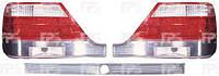 Фонари задние для Mercedes W140 '91-98 (S-Class) комплект (DEPO) левый, правый, средний, хромированный отражатель + Led