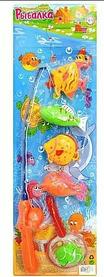 Игрушки для детей Рыбалка удочка, сачок, 5 рыбок