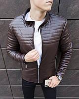 Куртка мужская кожаная до 0* Birmingham Brown / осенняя весенняя